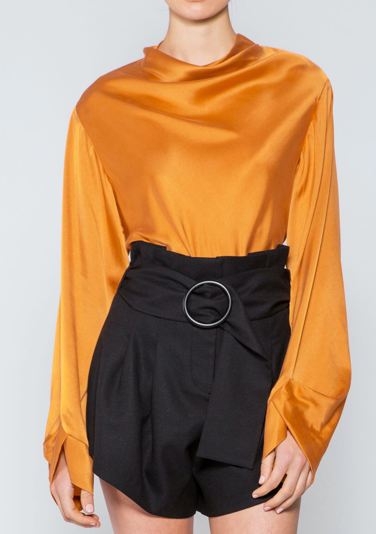 969d13a2426f2 Acler - Maddern Silk Blouse - Persimmon - Acler - Onceit