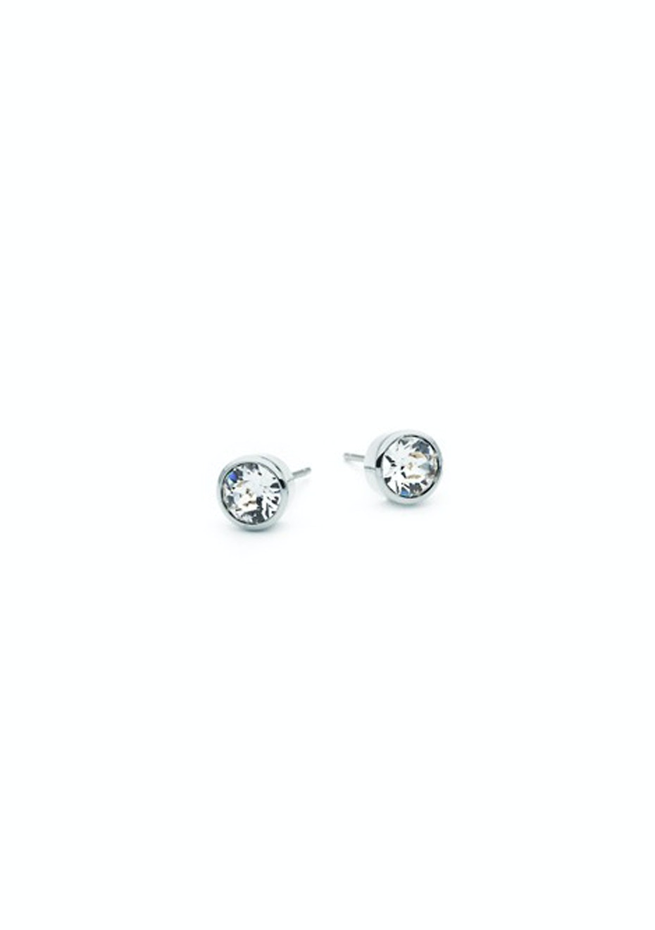 Stud Earrings Embellished with Crystals from Swarovski
