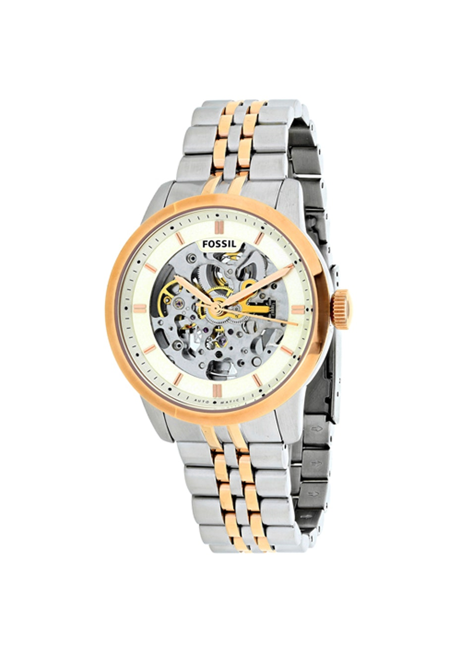 Fossil Men's Townsman - Off-White/Two tone Silver