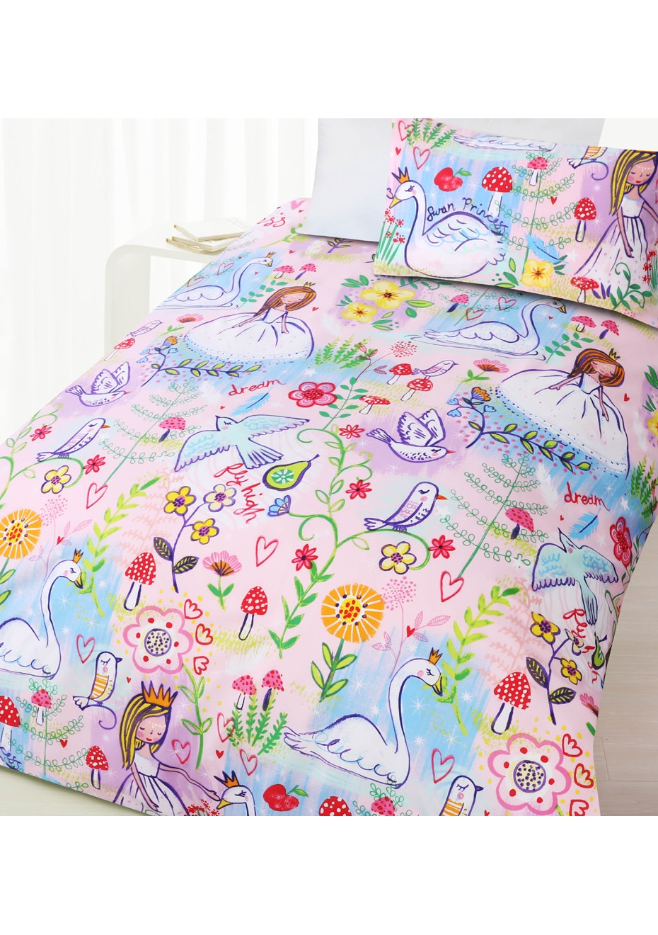 Swan Glow in the Dark Quilt Cover Set - Double Bed