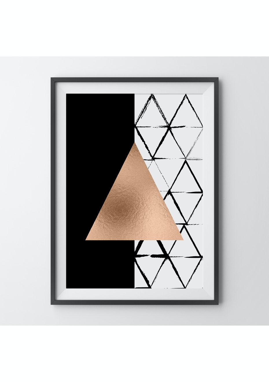 Simply Creative - Triangular - A3 Copper Foil Print