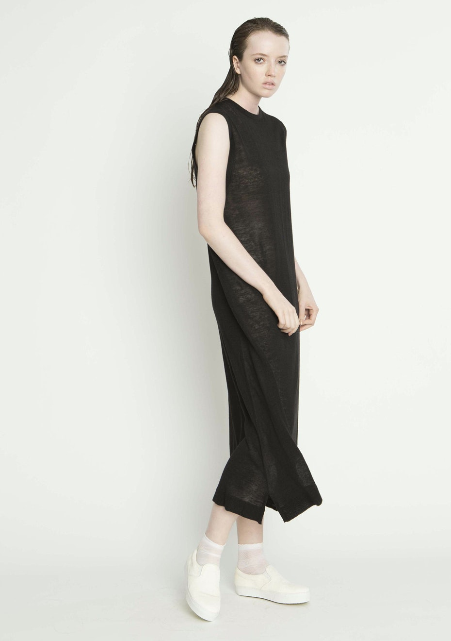 Salasai - RELAX TANK DRESS - BLACK