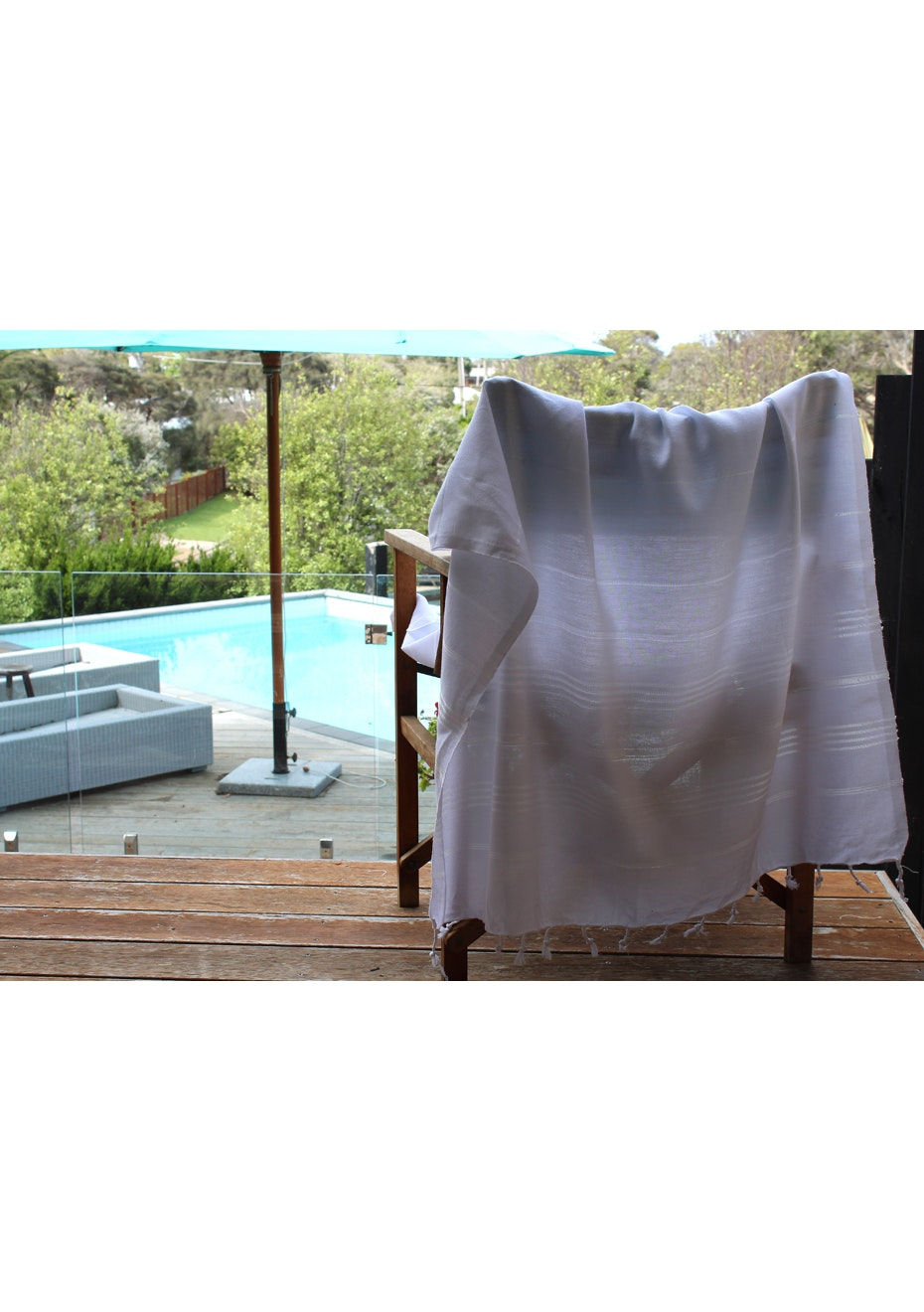 De La Mer White Turkish Towel