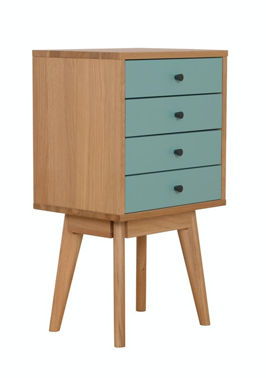 Furniture By Design - Radius 4 Tower- Turquoise and Oak