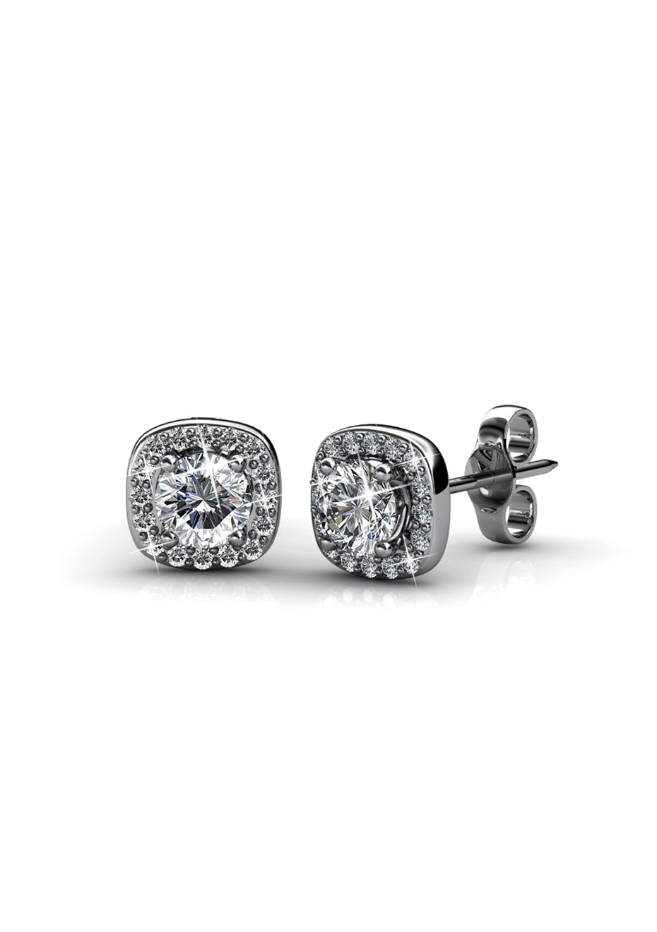 Luxor Stud Earrings Embellished with Crystals from Swarovski