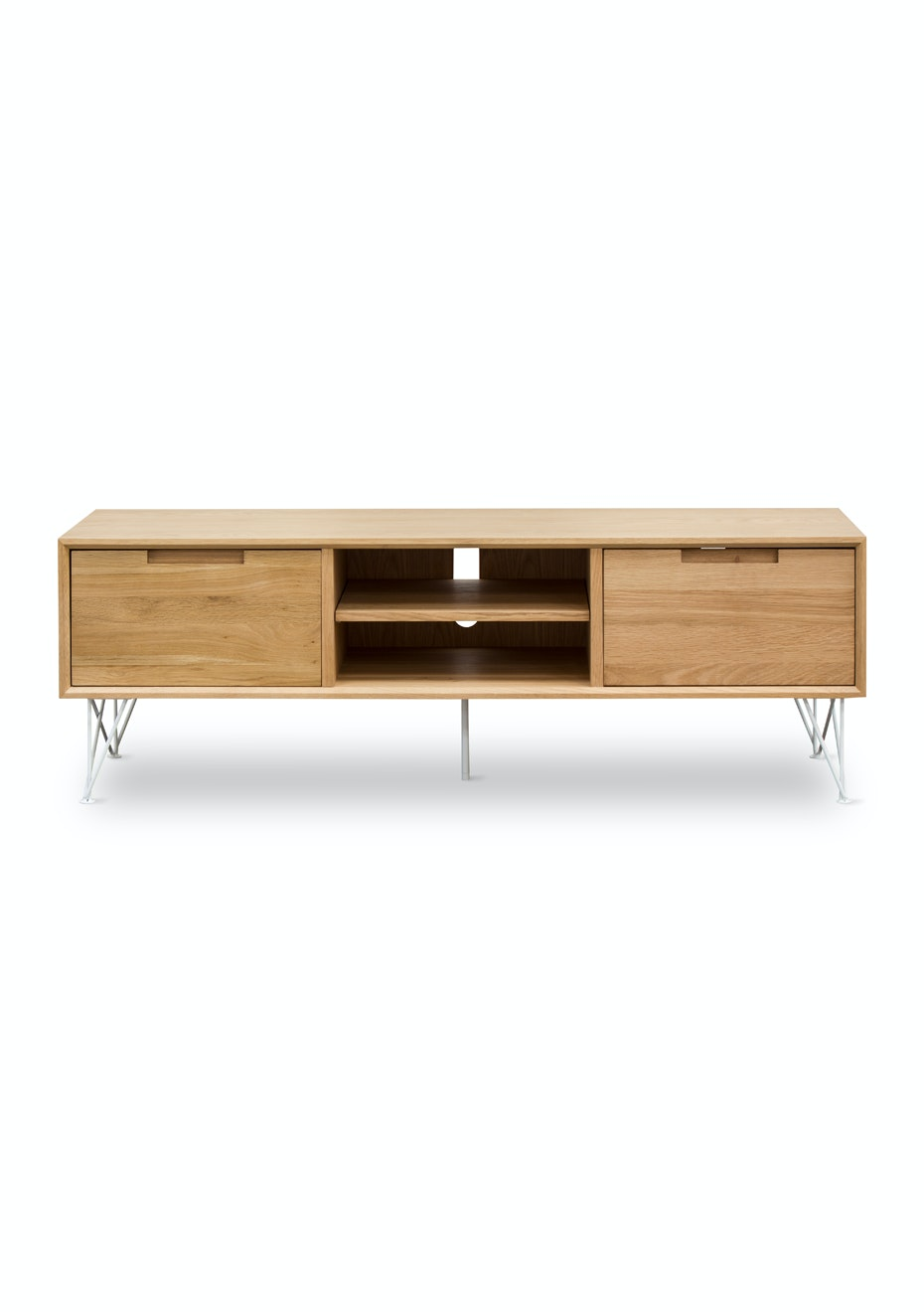 Furniture By Design - Pietement TV Stand- White and Oak