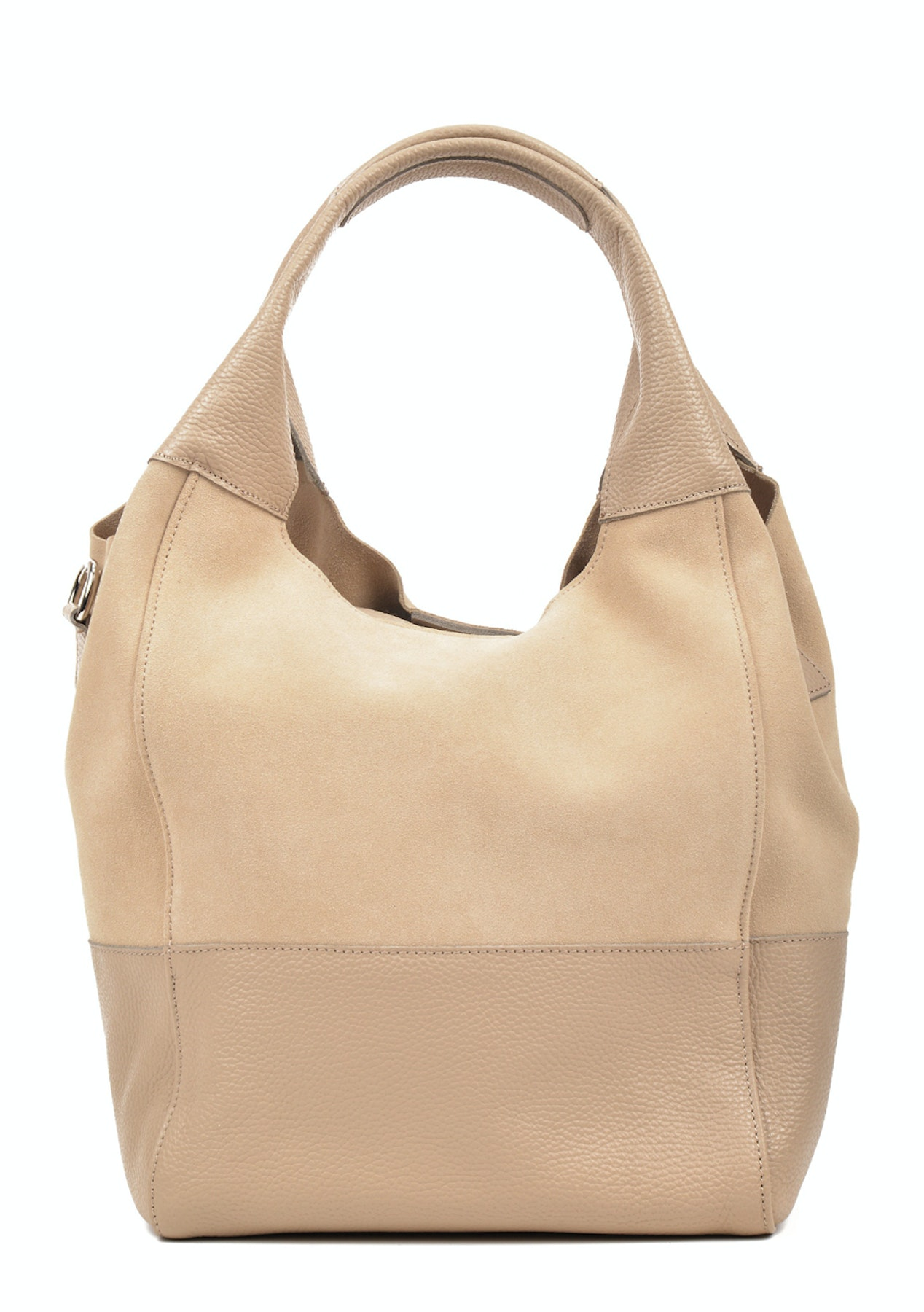 8515a5da73 Luisa Vannini - Hobo Bag - Beige - Monochrome Leather bags up to 74% off -  Onceit