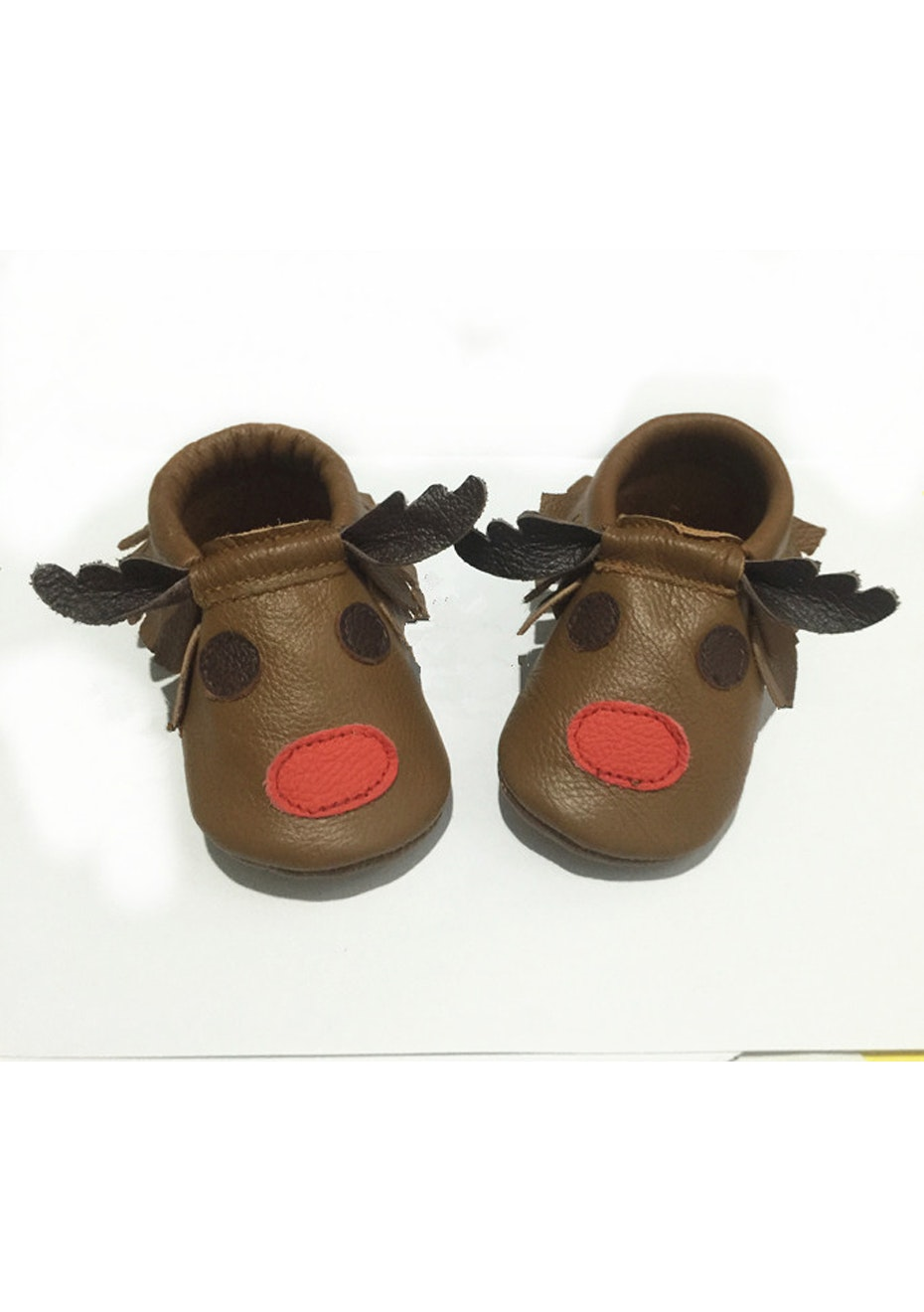 Baby  Leather Shoes - Brown Moose