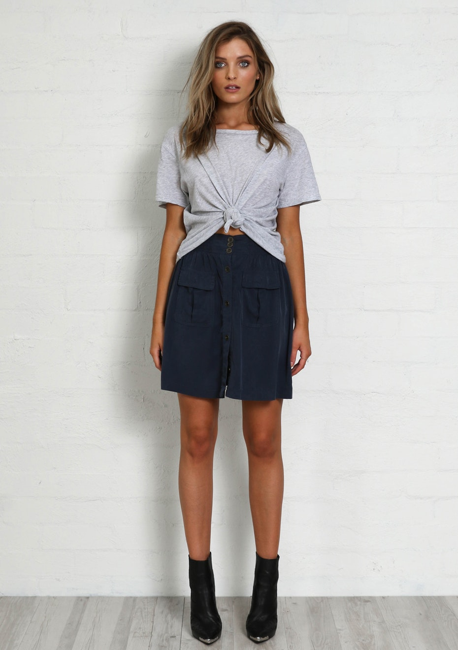 Madison - SAMARA SKIRT - NAVY