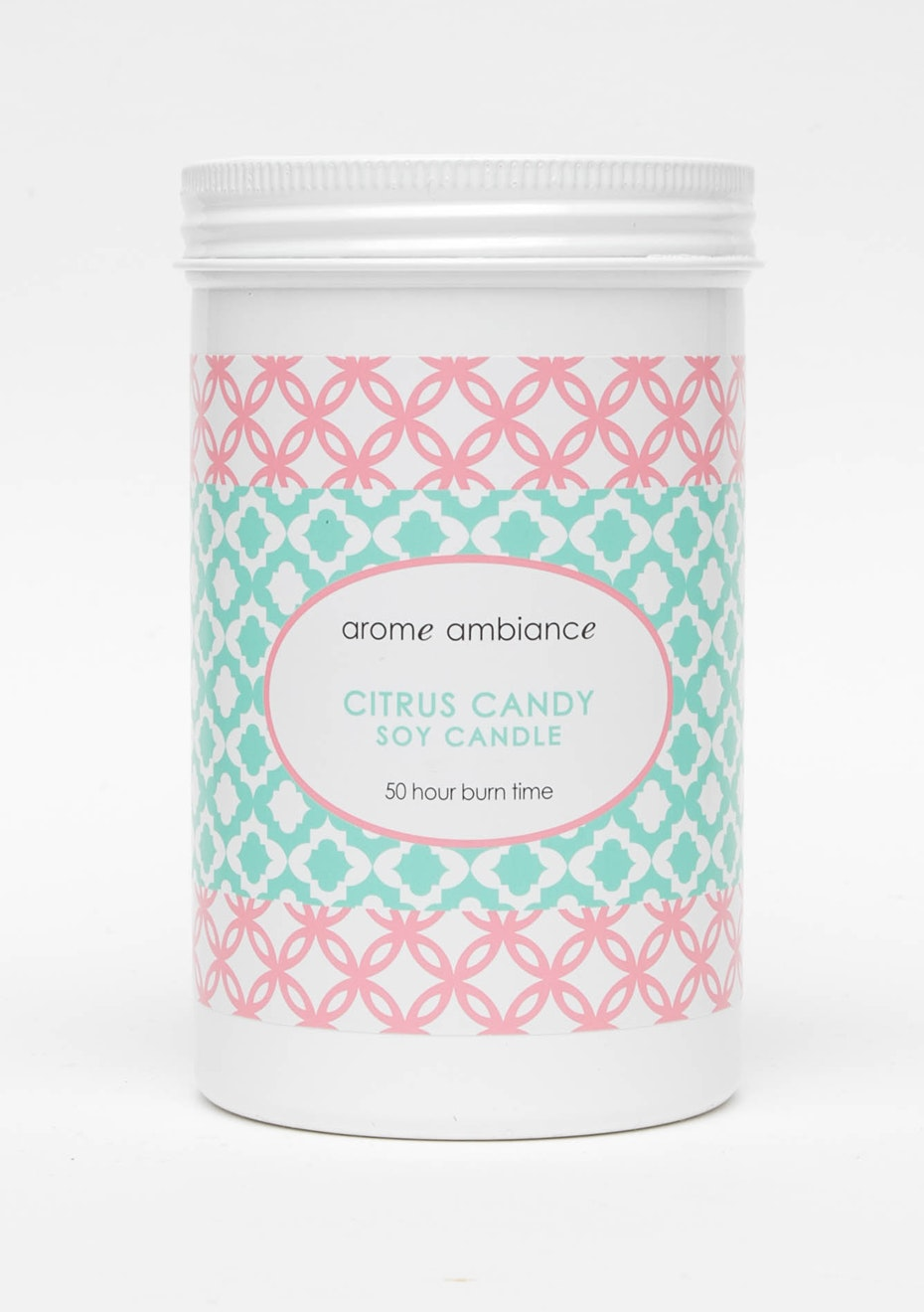 Arome Ambiance Geo Pop Citrus Candy Soy Candle 50Hr