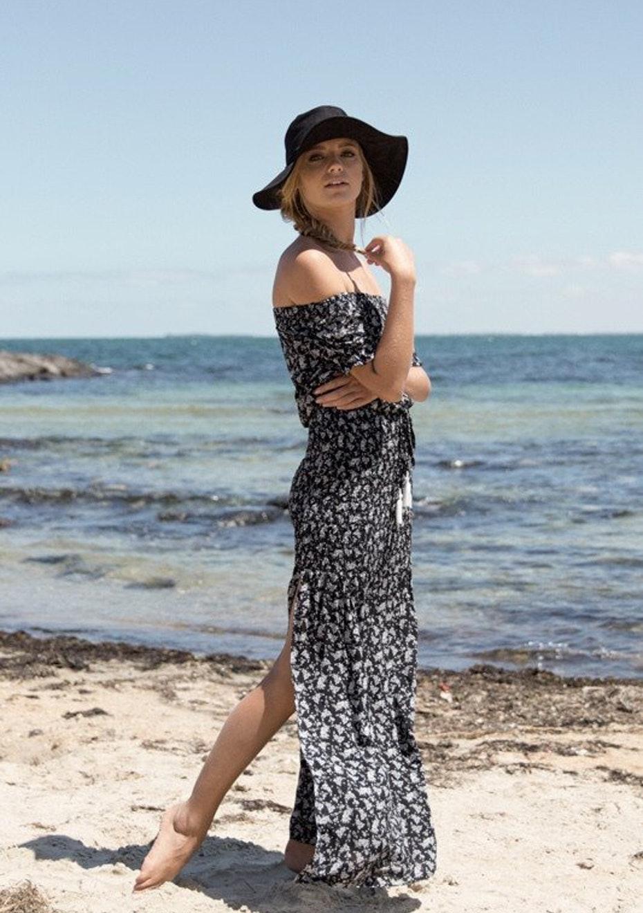 Songbird Maxi Dress - Black Print