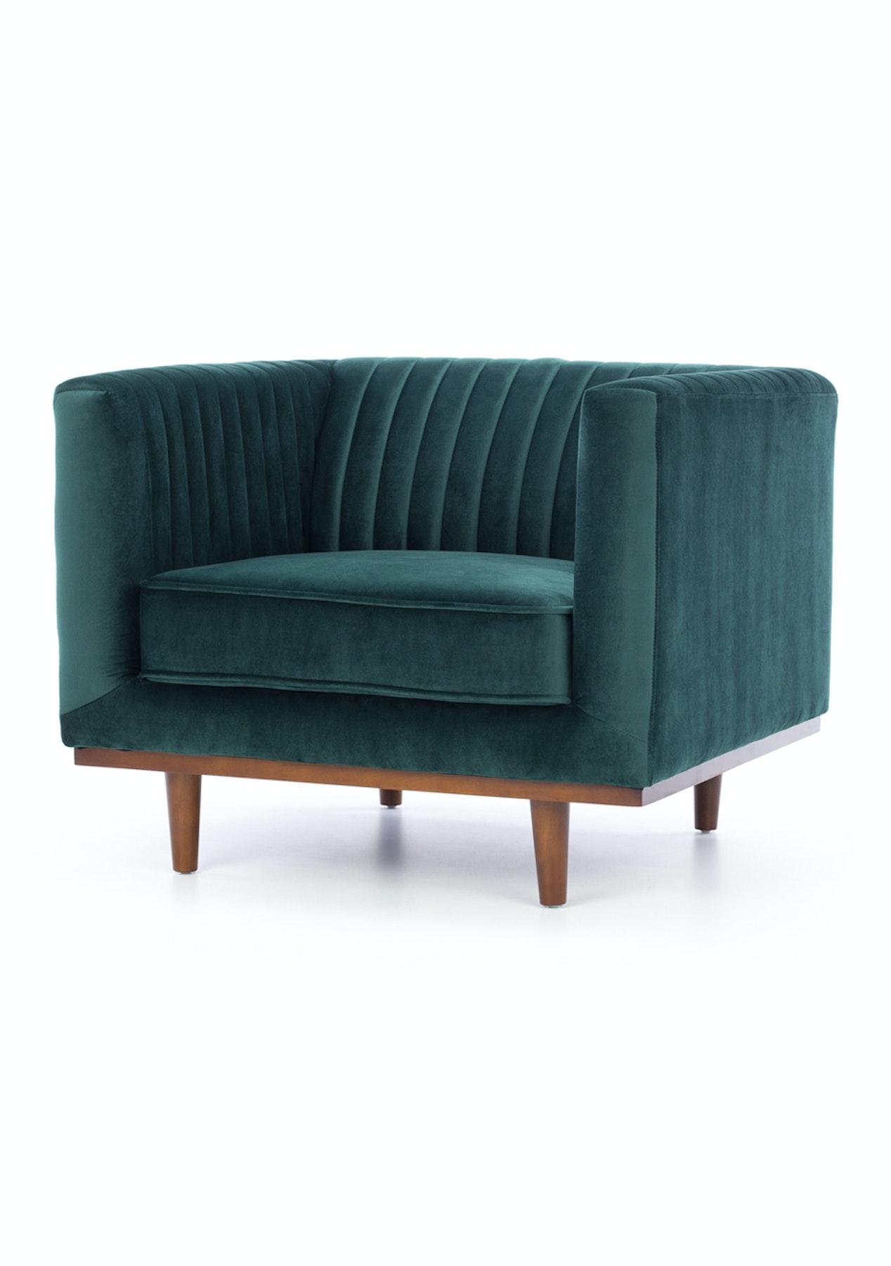 Furniture By Design Casey Armchair Dark Green Velvet