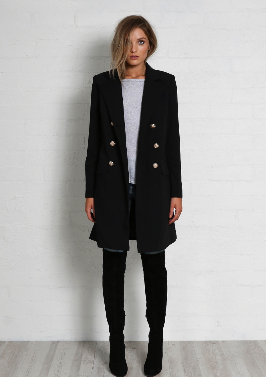 Madison - CLAUDIA COAT - BLACK