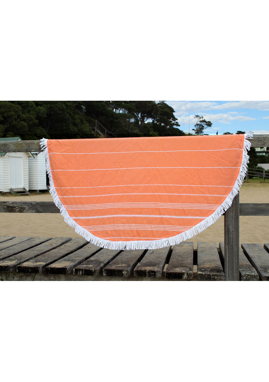 Round De La Mer Orange Towel