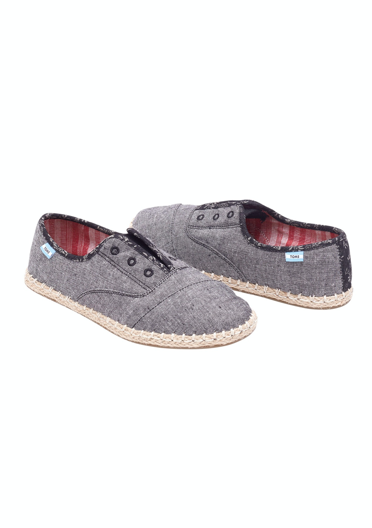 b5abf528a7c Toms - Womens Palmera Slip On - Grey Chambray - Toms - Onceit