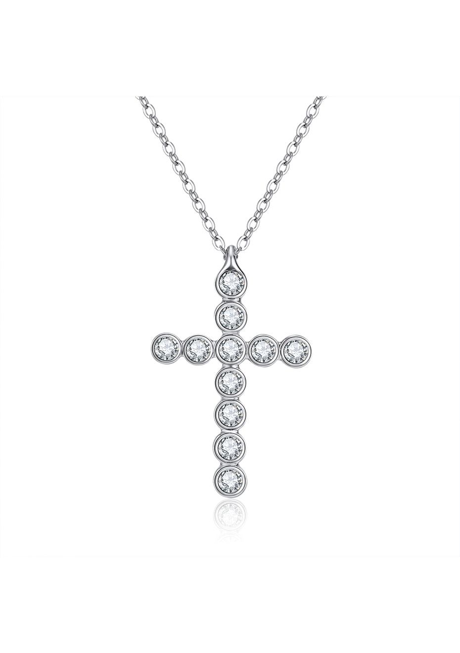 Cross Pendant Necklace Embellished with Crystals from Swarovski