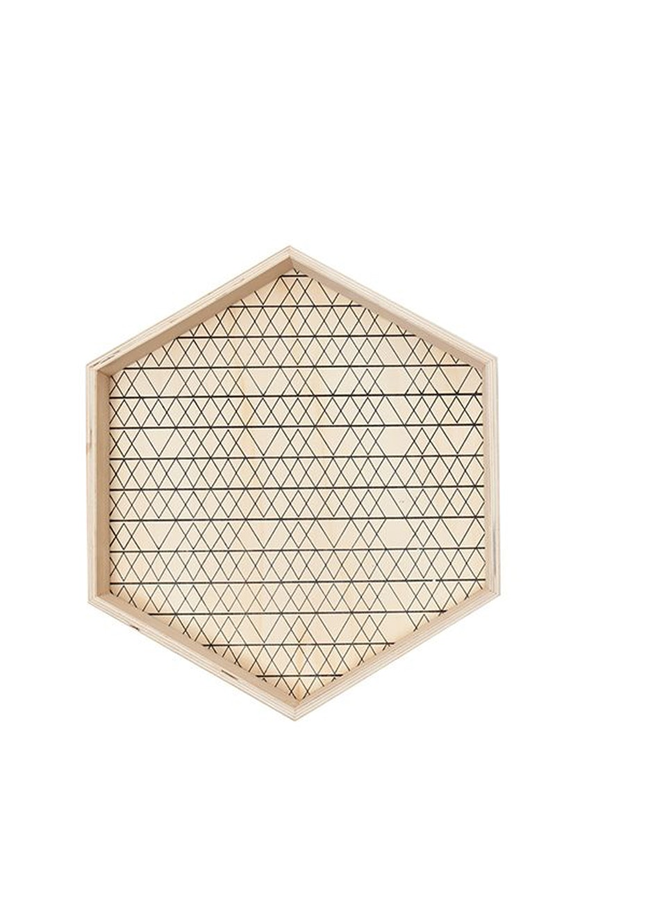 General Eclectic - Hex Wooden Tray Lg