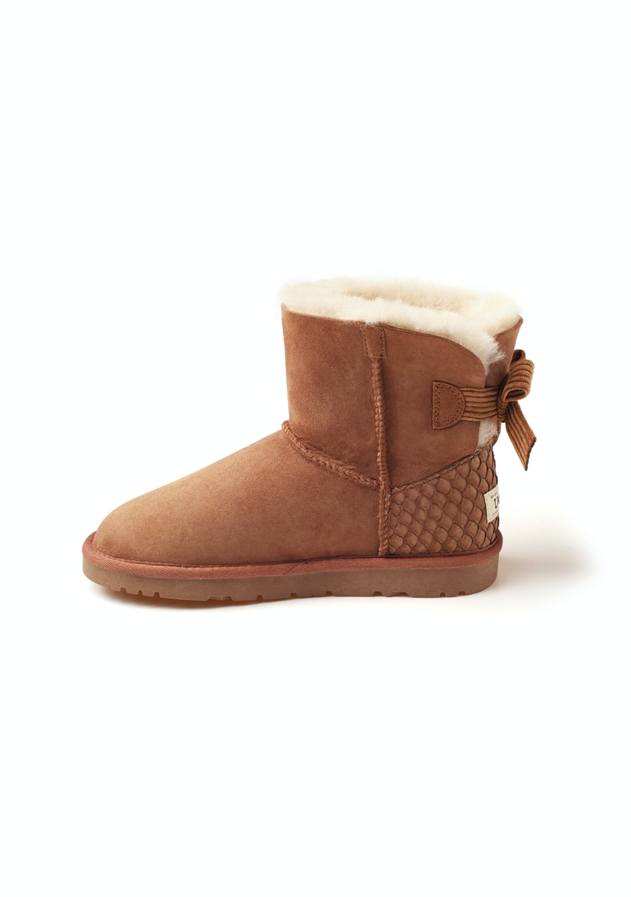 9f4b76a1faa27 Ozwear - Ugg Ugg One Bailey Bow Corduroy Boots (Scale-Embossed Heel Pop)  (Water Resistant) - Chestnut - Ozwear Uggs up to 58% - Onceit