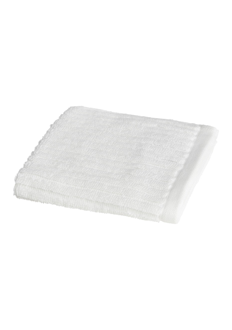 Conran Signature Rib Face Washer White