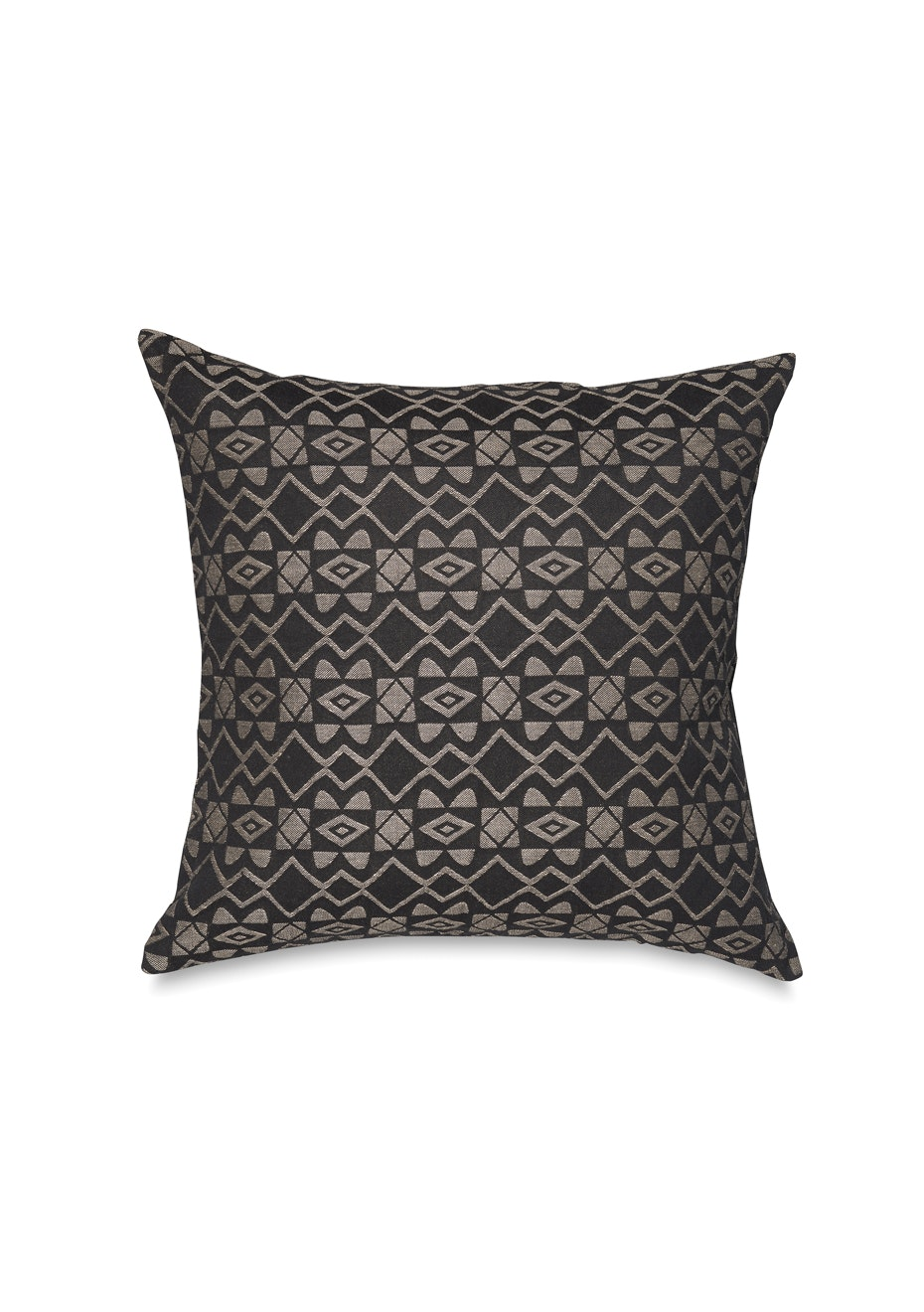 Citta - Afrique Petit Woven Cushion Cover - Black/Limestone