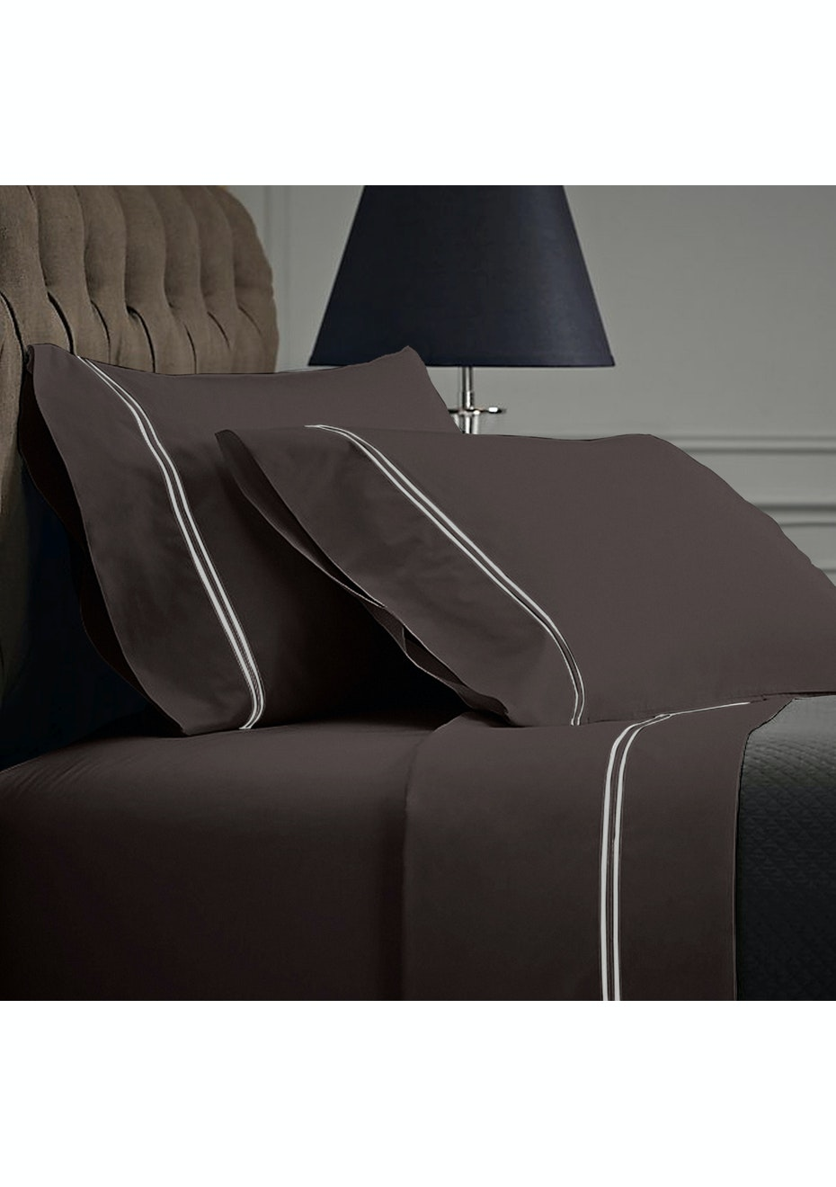 Style & Co 1000 Thread count Egyptian Cotton Hotel Collection Sorrento Sheet sets Double Coal