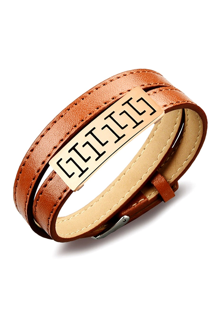 Genuine Leather Wrap Bracelet | Brown