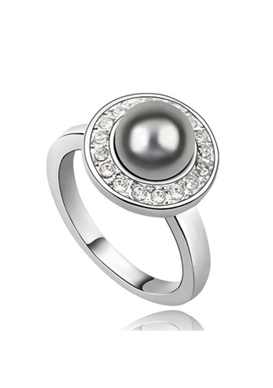 Shiraz Ring Embellished with Crystals from Swarovski -GRY