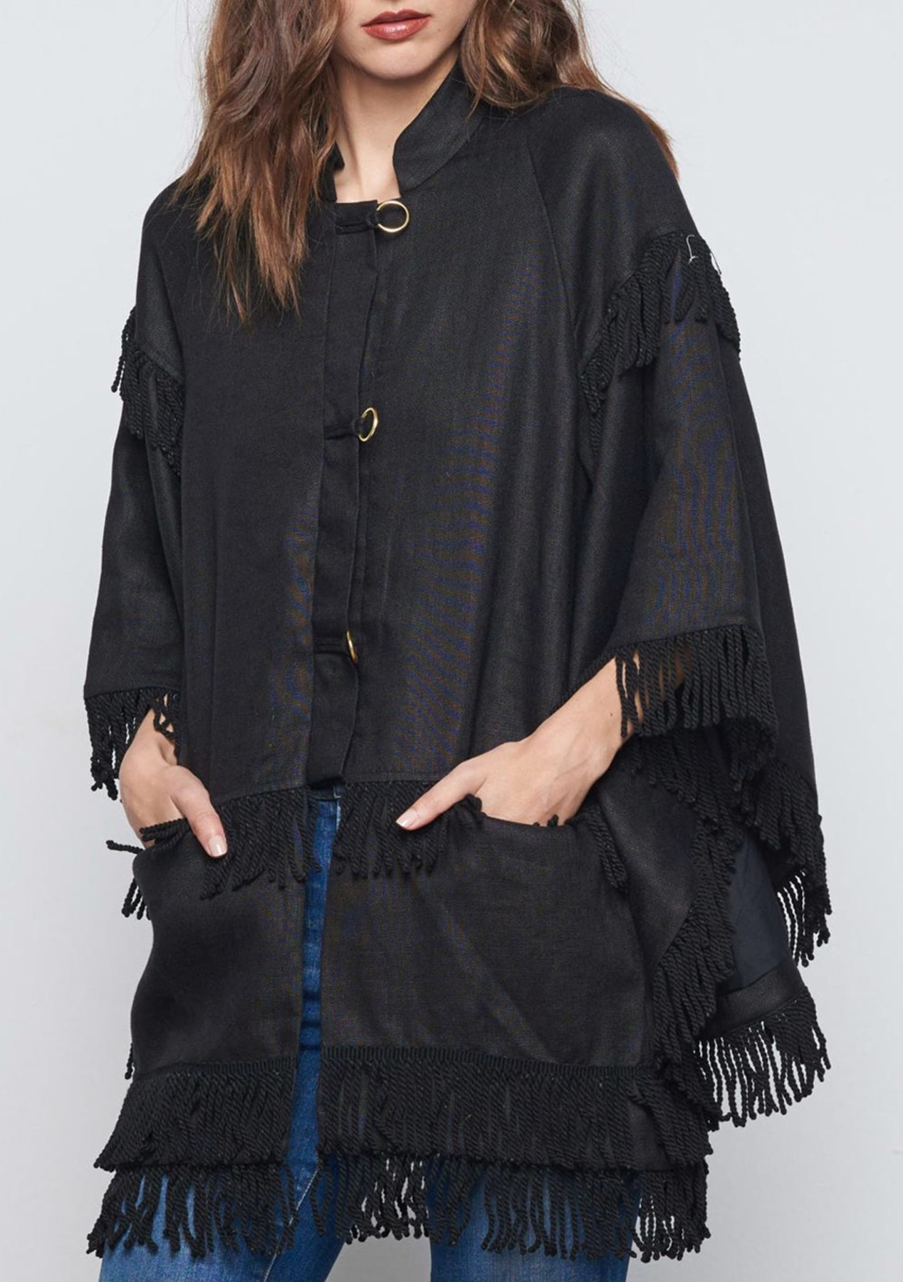 bd03eced990558 Stevie May - New Wave Coat - Black - Womens Rummage Rack - Onceit
