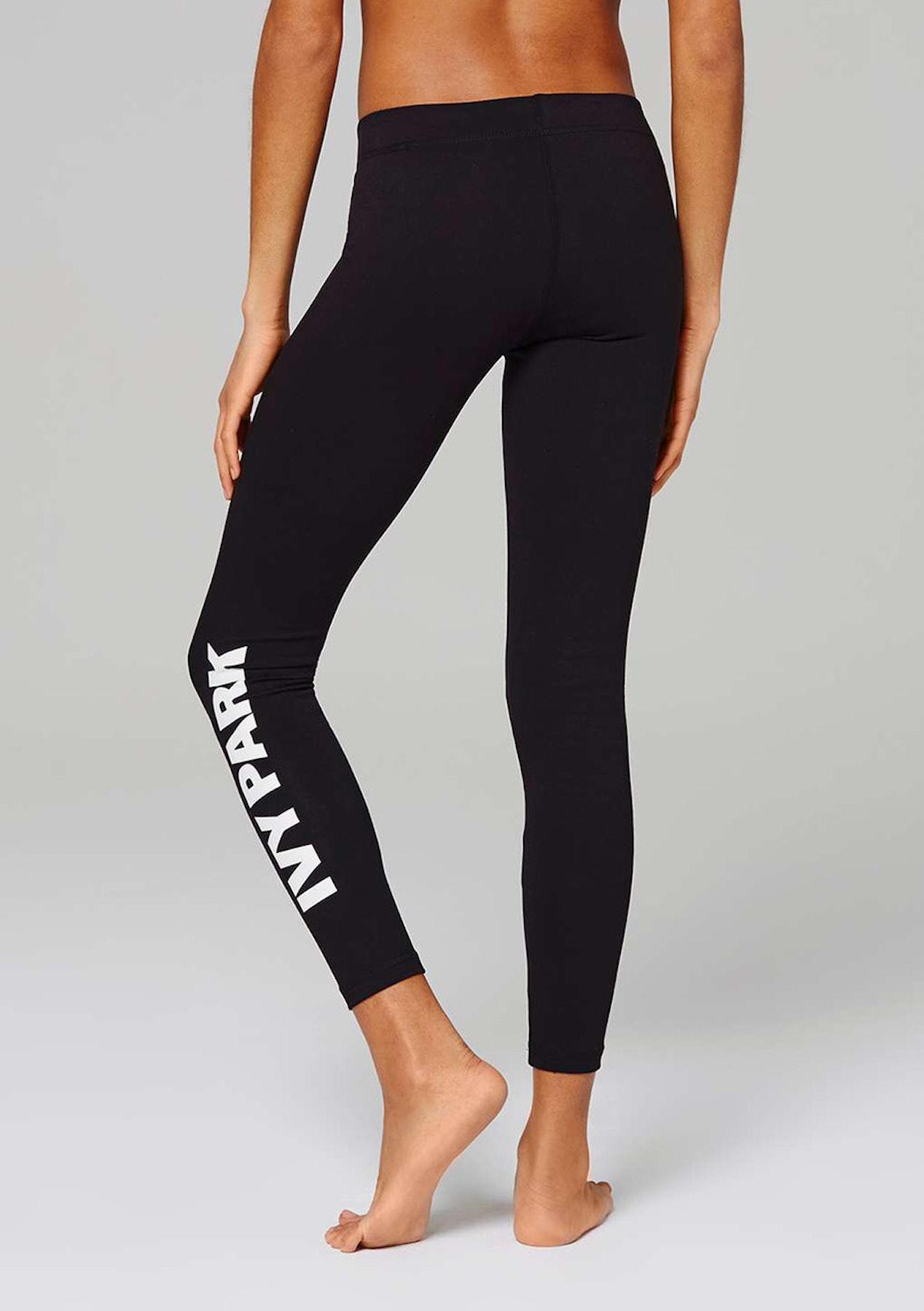 720582cdda8d0 Ivy Park - Mid Rise Logo Legging - Black - New IVY PARK - Onceit