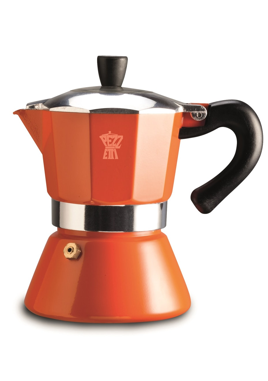 Pezzetti Bellexpress Orange Induction Coffee Maker 3Cup