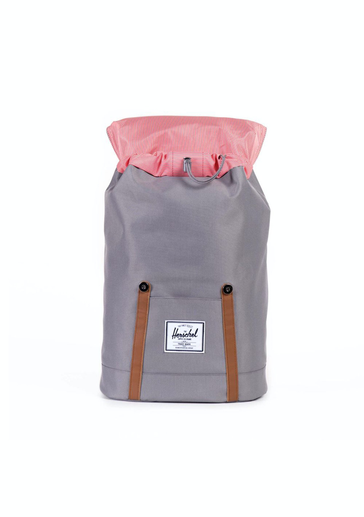 Herschel - Retreat Backpack - Grey Tan Synthetic Leather - Boxing Day Mens  Clearance - Onceit f08f3fa764a32