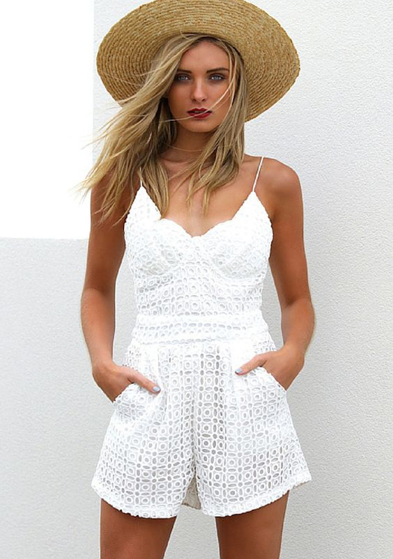 483ce6316ee Risky Business Romper - White - Garage Sale - Fashion - Onceit
