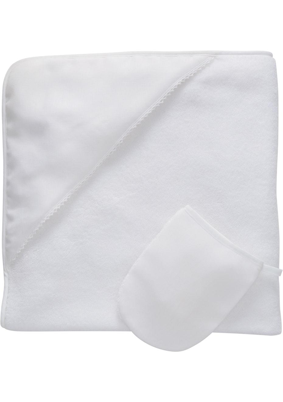Sheridan - Quinn - Towel & Mit Set - White
