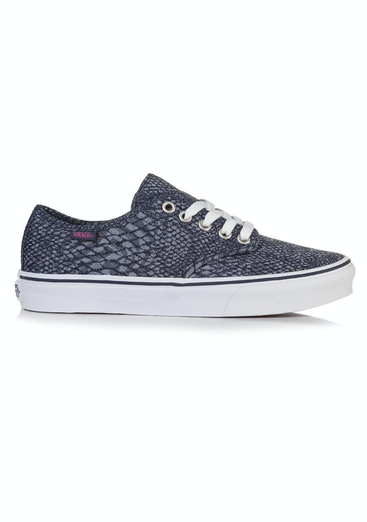 8b5841e6a0b Vans - Womens Camden Stripe Snake - Jacquard Navy - Free Shipping Street  Shoes + Slides - Onceit