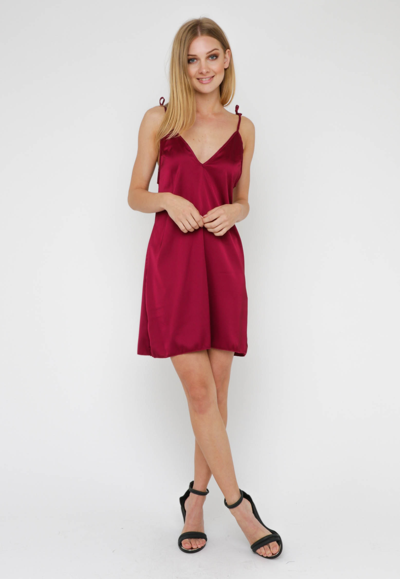 Tie It Up Dress - Wine