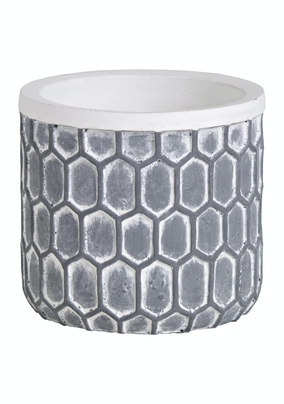 Jason - Concrete Hexagonal Planter - Grey