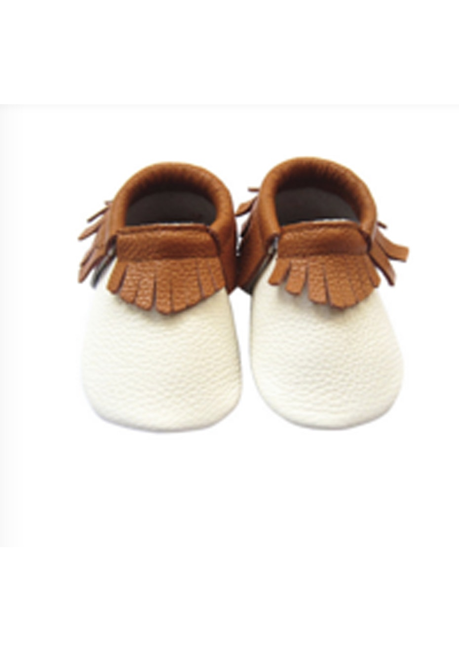 Baby  Leather Shoes - Brown/White