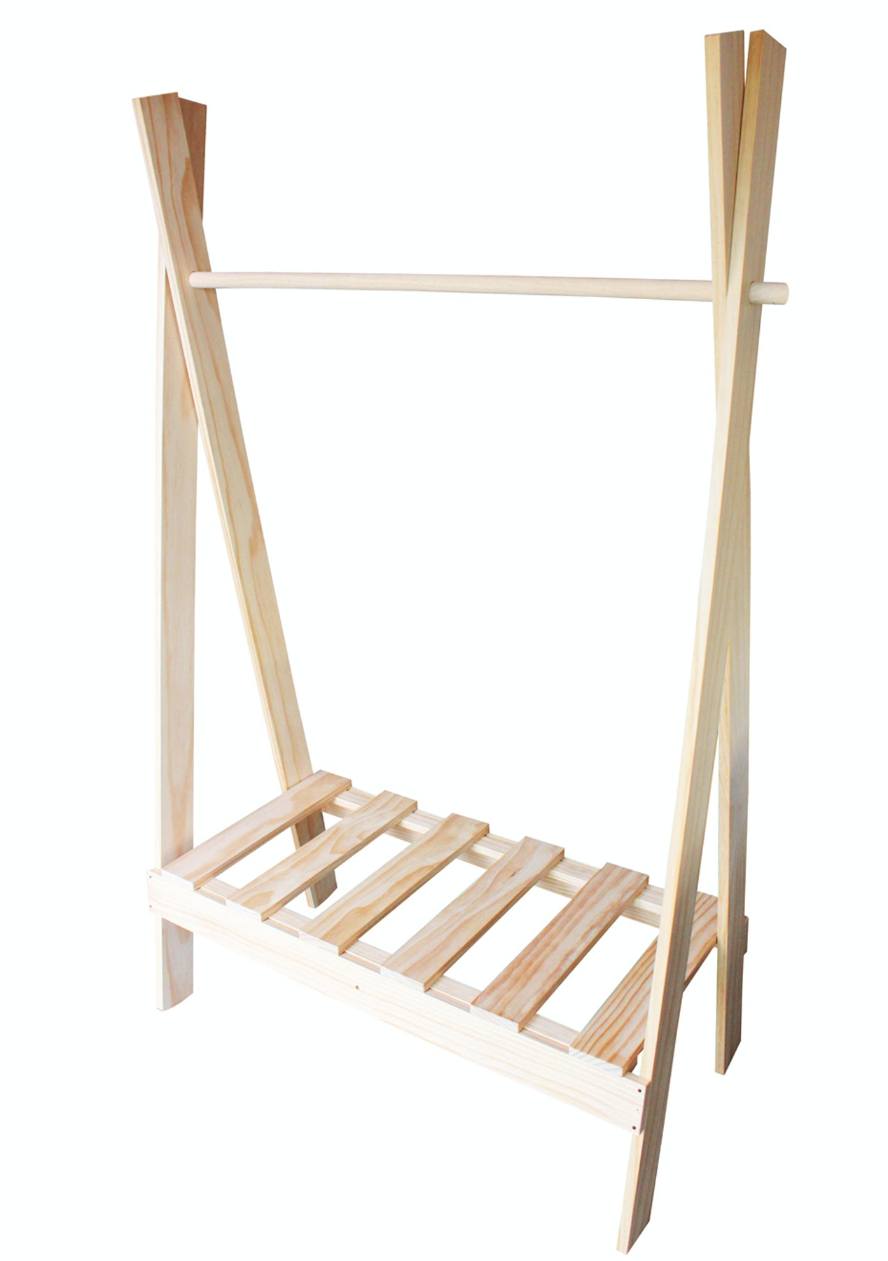 Mood Store  Clothes Rack + Shelf  Natural Pine