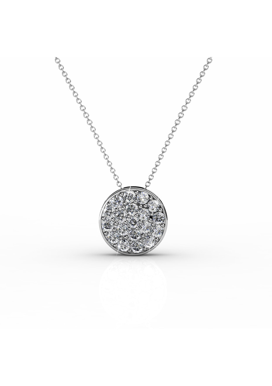 Pave Pendant necklace Embellished with Crystals from Swarovski
