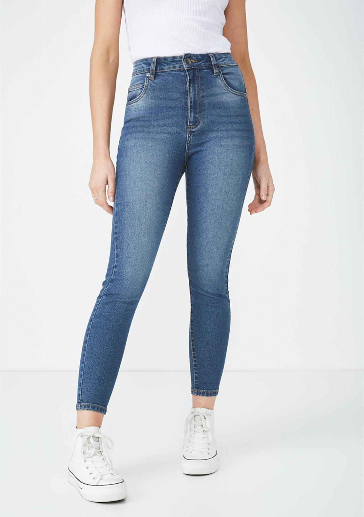 8bbc4110d3 Cotton On - High Rise Grazer Skinny Jean/True Stone Blue - Cotton On Winter  Basics! - Onceit