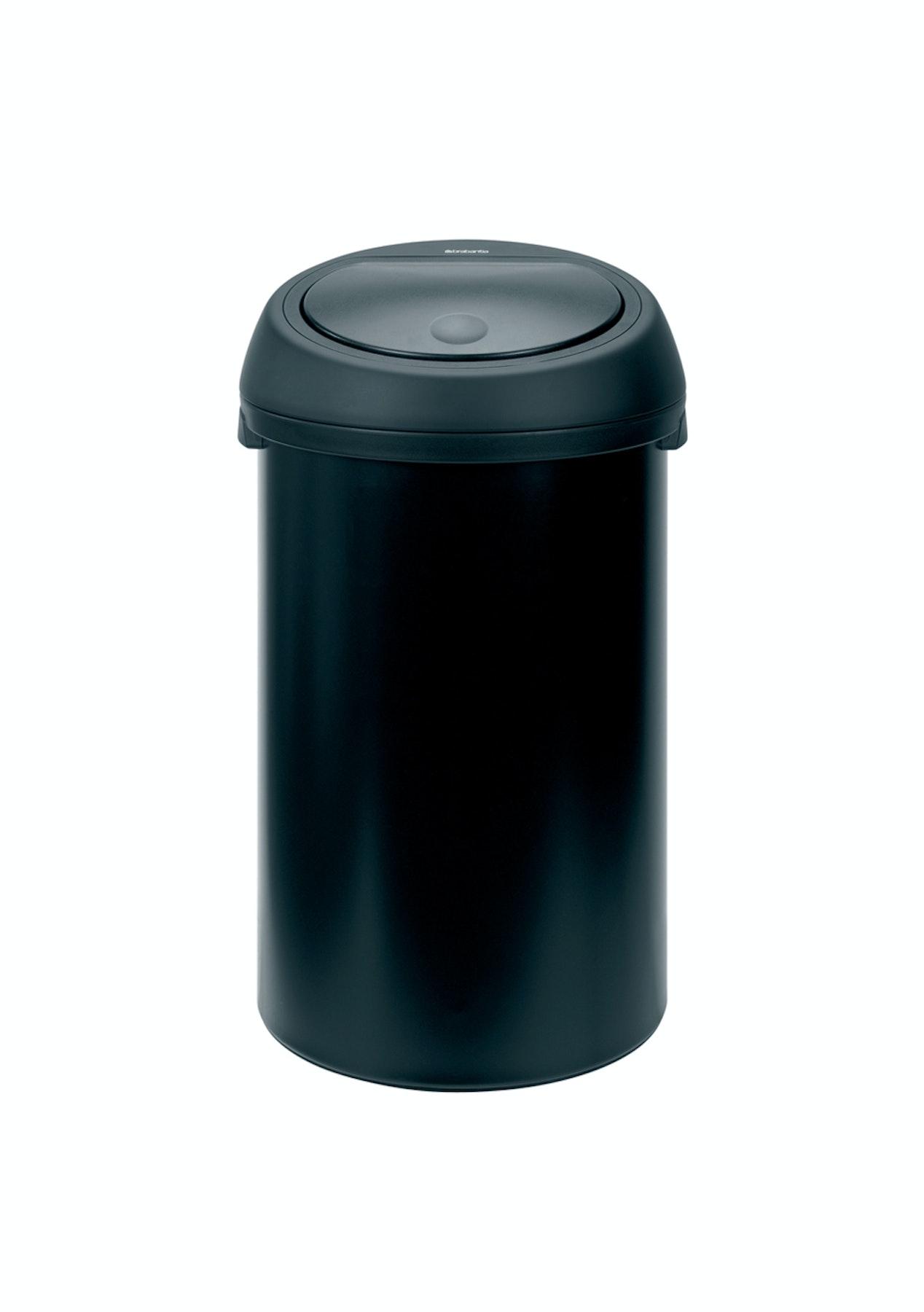 Brabantia Touch Bin 50 Liter Wit.Brabantia Rd Touch Bin 50l Matt Black W Black Lid