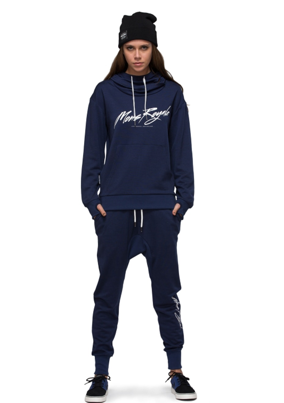 MONS ROYALE - Womens - Pullover Hoody Signature - Navy