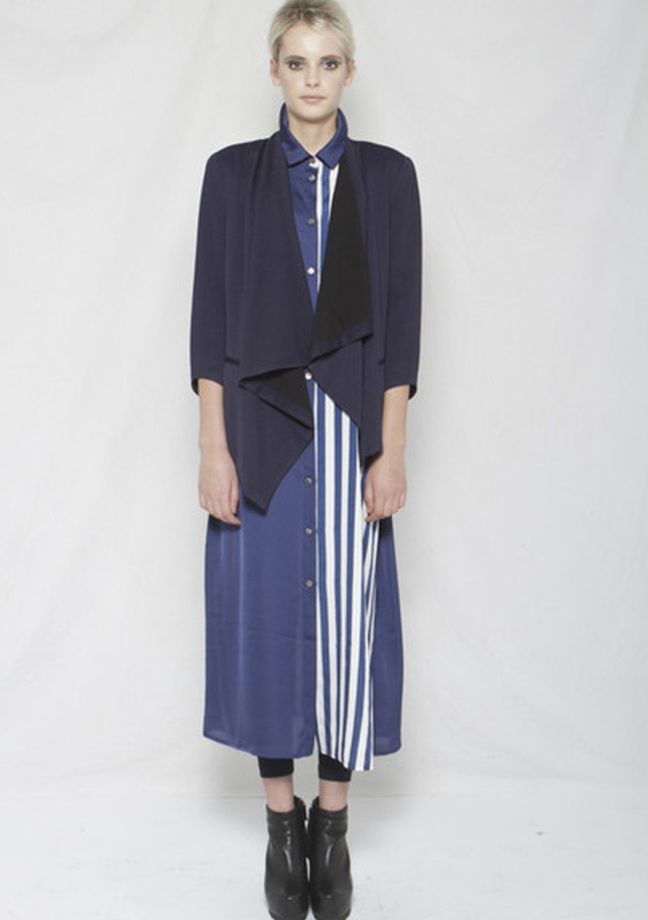 XPLAIN - Ace Dress - Blue Stripe