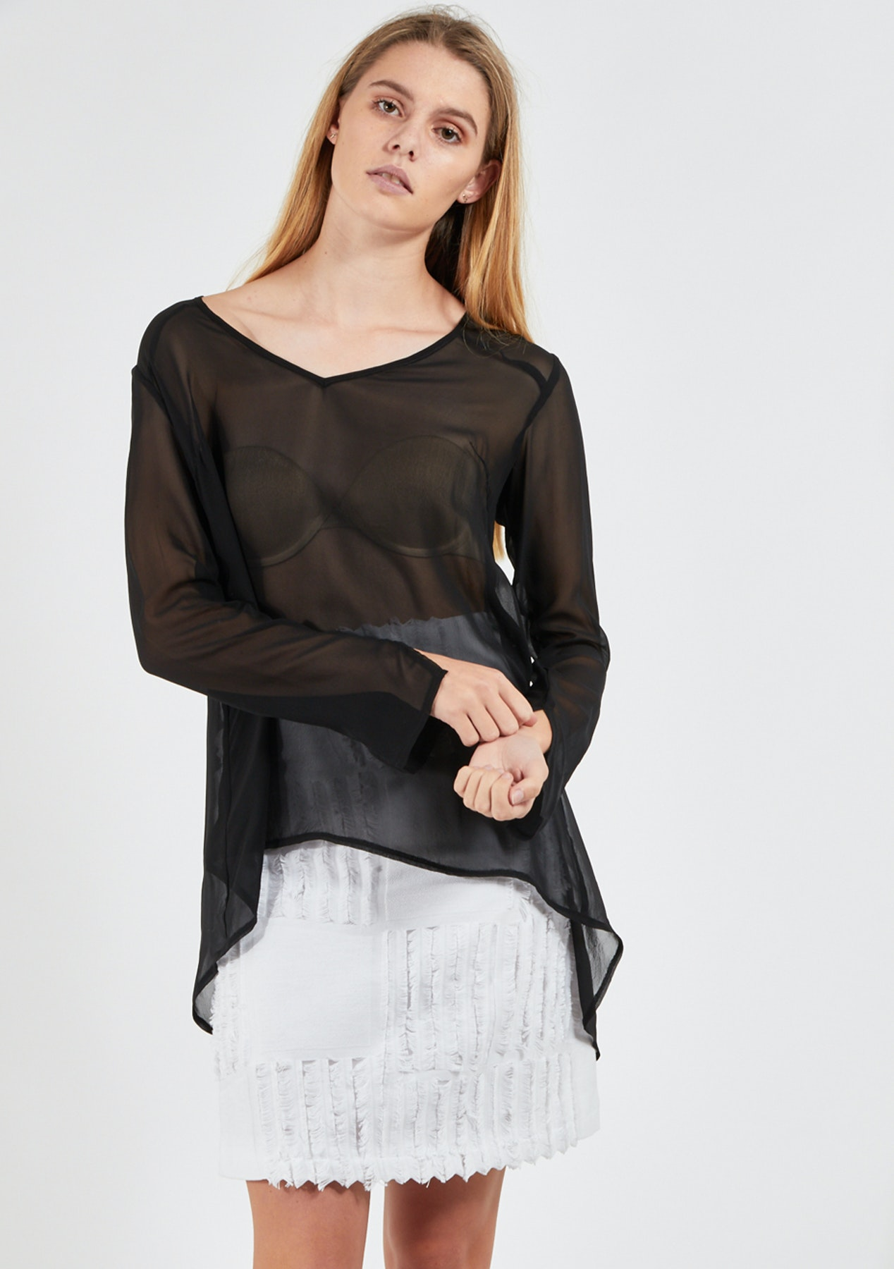 1afa7b08b75478 Andrea Moore - Silk Shell Top - Black - Womens Rummage Rack - Onceit
