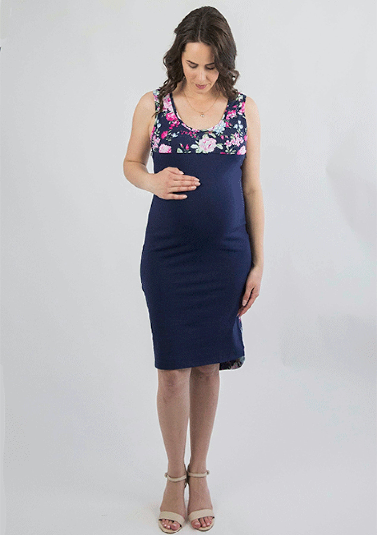 0c24f2a809b42 Mrs Smith - Nina Dress Maternity dress - Midnight & Floral - The Maternity  Shop - Up to 70% Off - Onceit