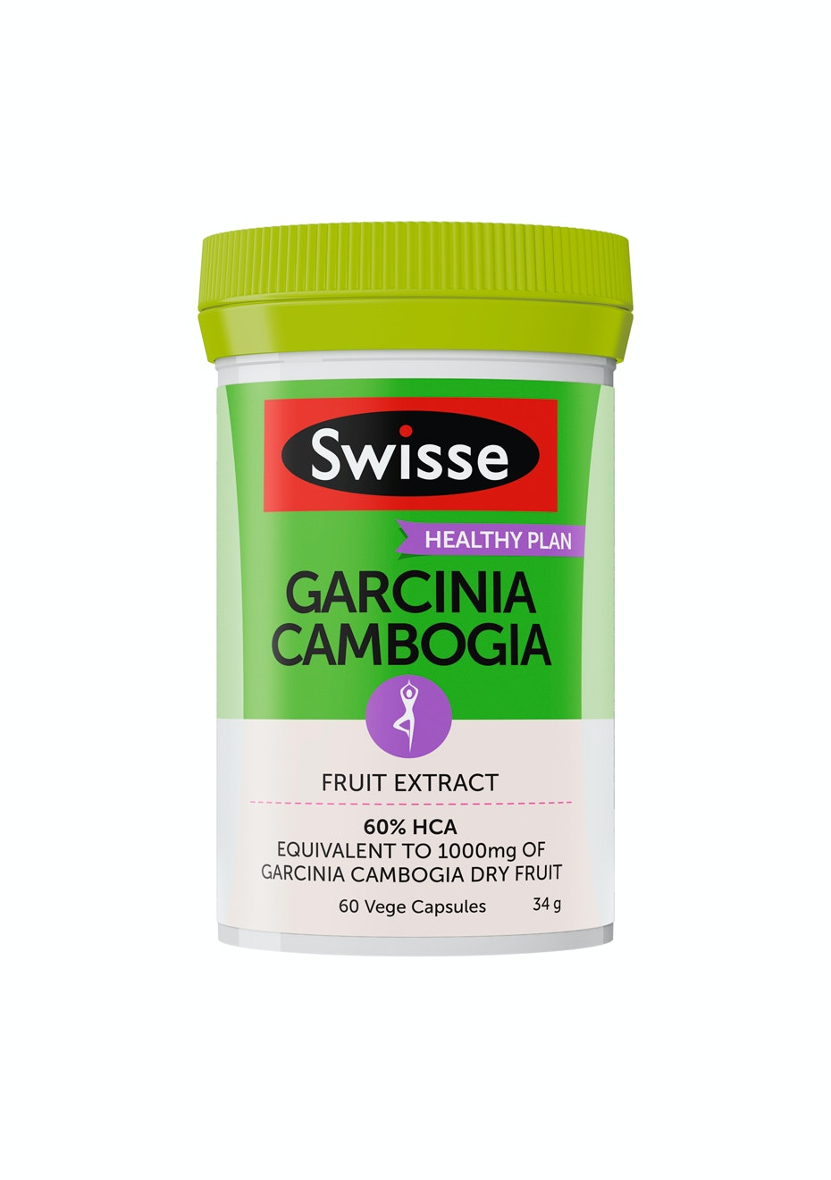 Swisse Garcinia Cambogia (60%) 60 Vege Caps