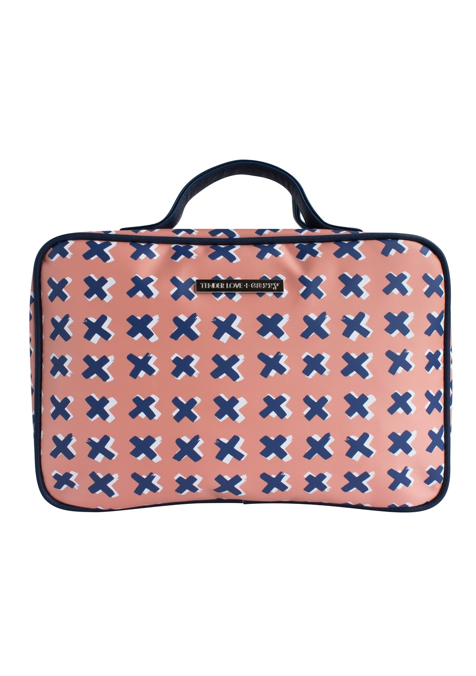 TL+C - Kiss Kiss Hanging Washbag - Peach/Blue
