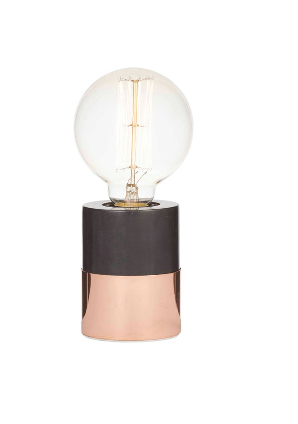 Amalfi kenzie table lamp black marble copper metal for Amalfi copper floor lamp