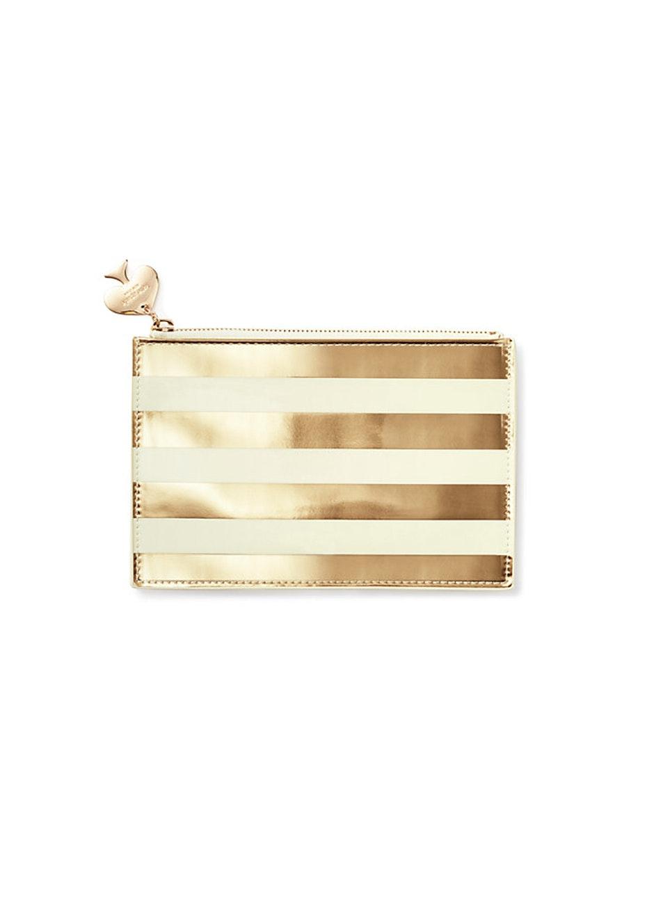 Kate Spade - Pencil Pouch Gold Stripe