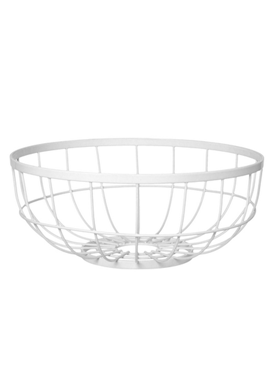 Pt Home - Fruit Bowl Open Grid - White